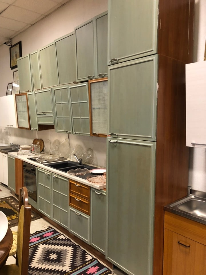 Cucina completa angolare angolo 1 metro a sinistra doppia fila di pensili ottimo stato - Cucina completa angolare ...