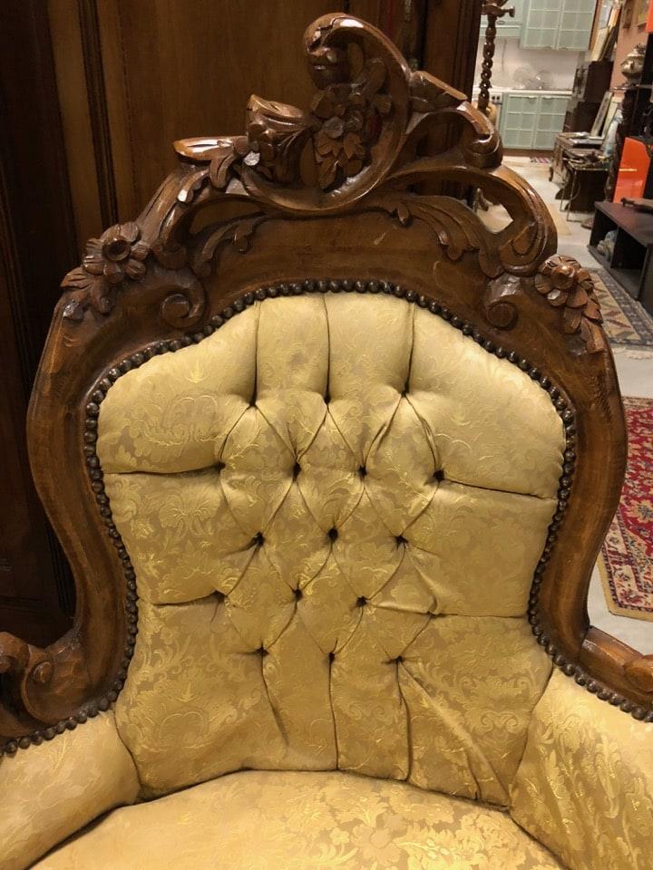 Dormeuse stile barocco piemontese in ottimo stato 2