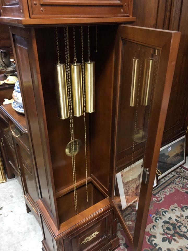 Orologio a pendolo a piantana funzionante con motivo Westmister marca Gran Salon 2