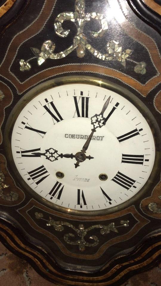 Orologio antico da muro francese Occhio di bue-1