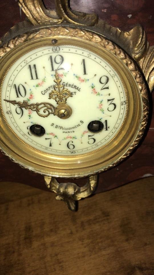 Orologio liberty da tavolo con figura femminile-2