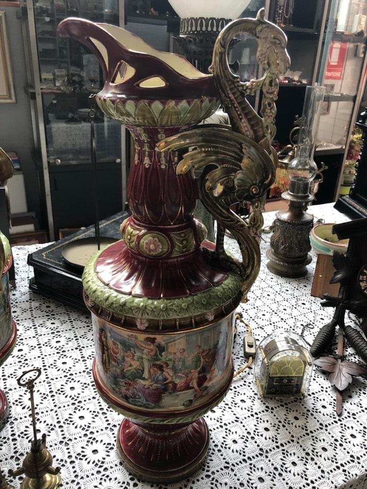 Coppia di vasi antichi in ceramica mercatino di asti for Vasi antichi